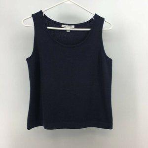St. John Womens Knit Tank Top Black